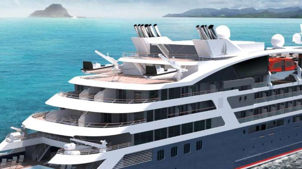 Suiten für 184 Passagiere und ausgerüstet für polare Gefilde: Vier neue Expeditionsjachten lässt die Reederei Ponant bauen - bis zum Jahr 2019 sollen alle fertig sein. Rendering: Ponant - Sterling Design International Foto: Sterling Design International