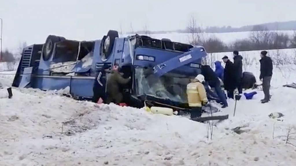 Moskau Busunfall