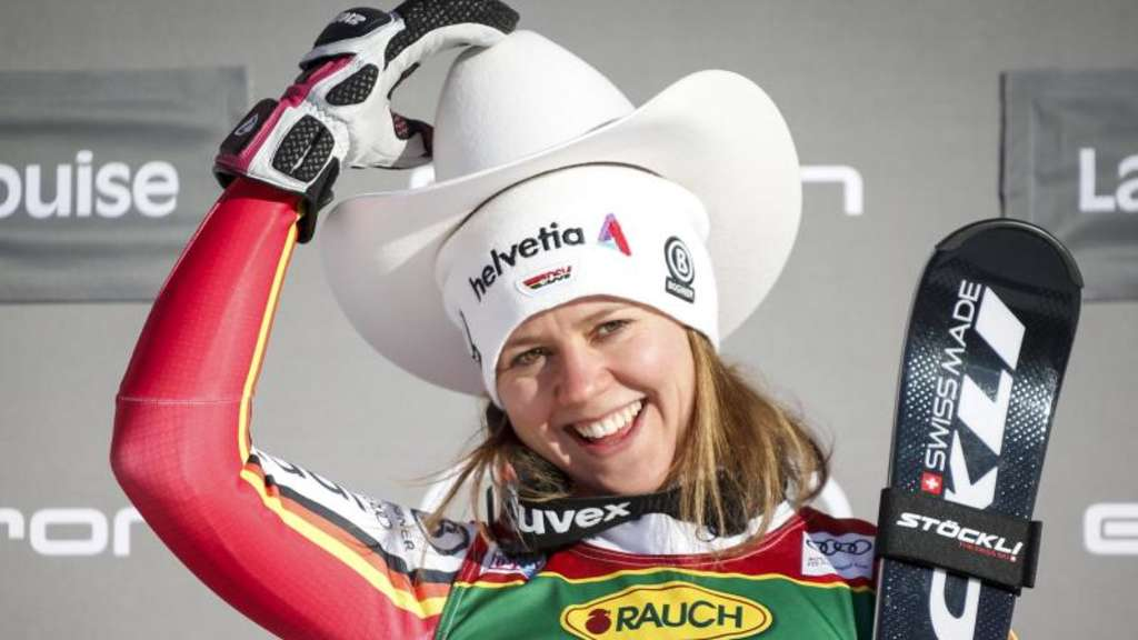 Viktoria Rebensburg gewann den Super-G in Lake Louise. Foto: Jeff Mcintosh/The Canadian Press/AP/dpa