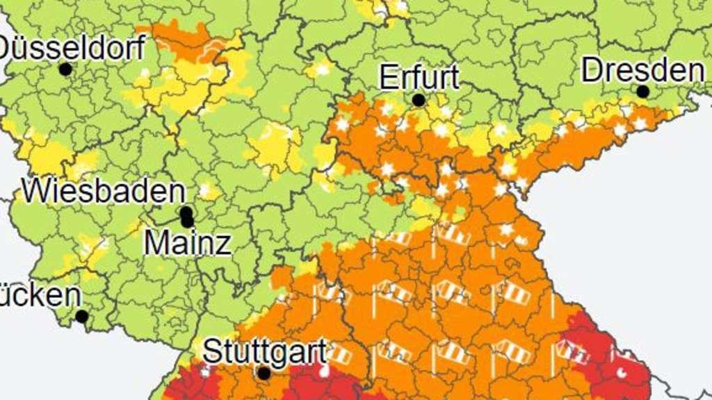 Unwetterwarnung Heilbronn